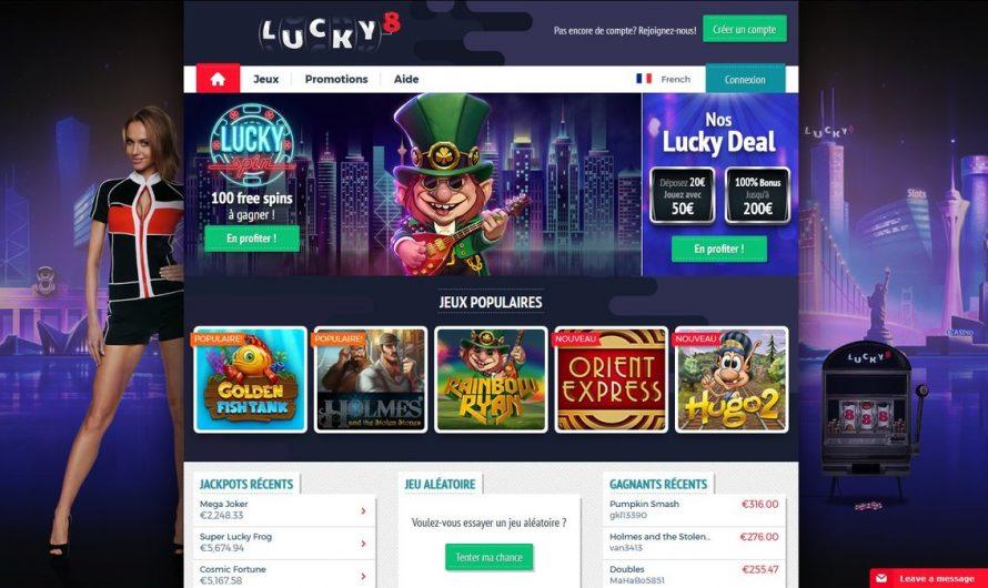 Inscription Lucky8 Casino : tous les détails à savoir